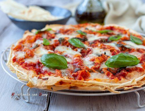 Finta pizza con pane carasau
