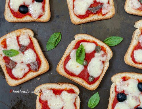 Pizzette di pancarré fantasia