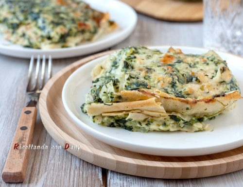 Lasagne di pane carasau agli spinaci
