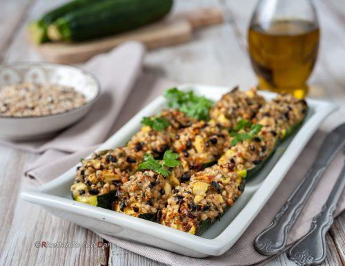 Zucchine ripiene al grano saraceno