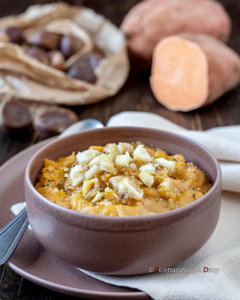 Crema di patate dolci e castagne