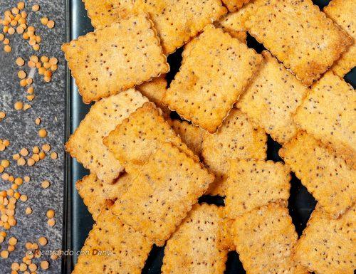 Crackers con farina di lenticchie rosse