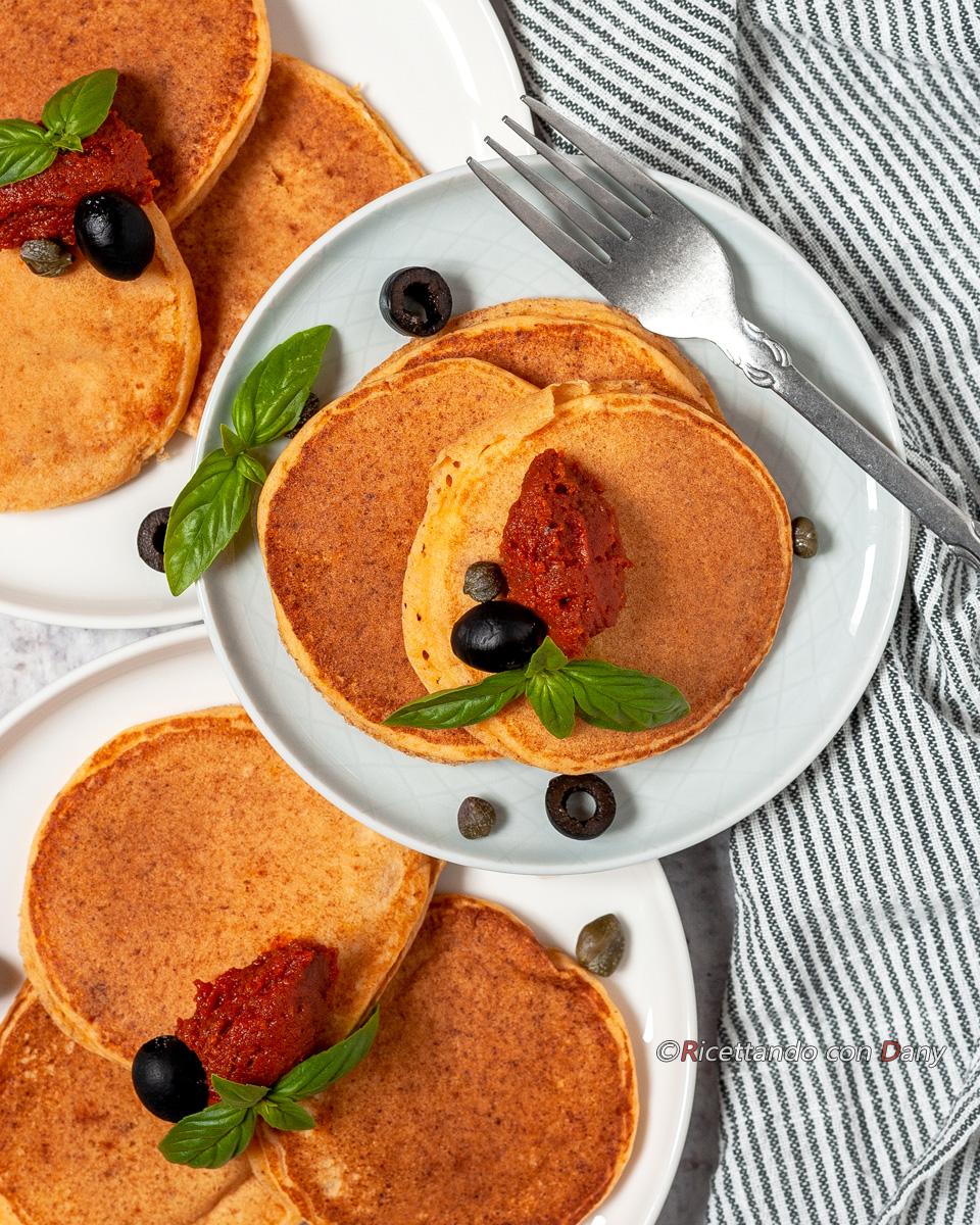 Pancakes salati con ricotta e nduja