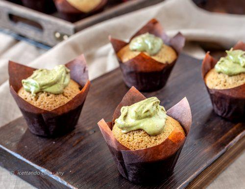 Muffin alla crema di pistacchio