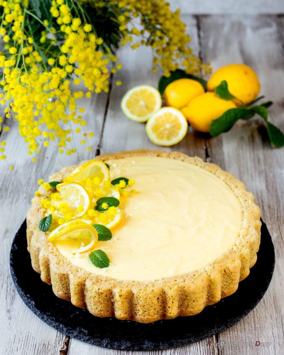 Crostata morbida con crema di lemon curd