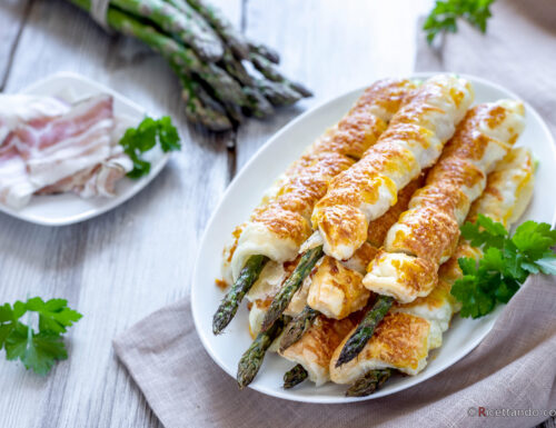 Asparagi in crosta con rigatino e parmigiano