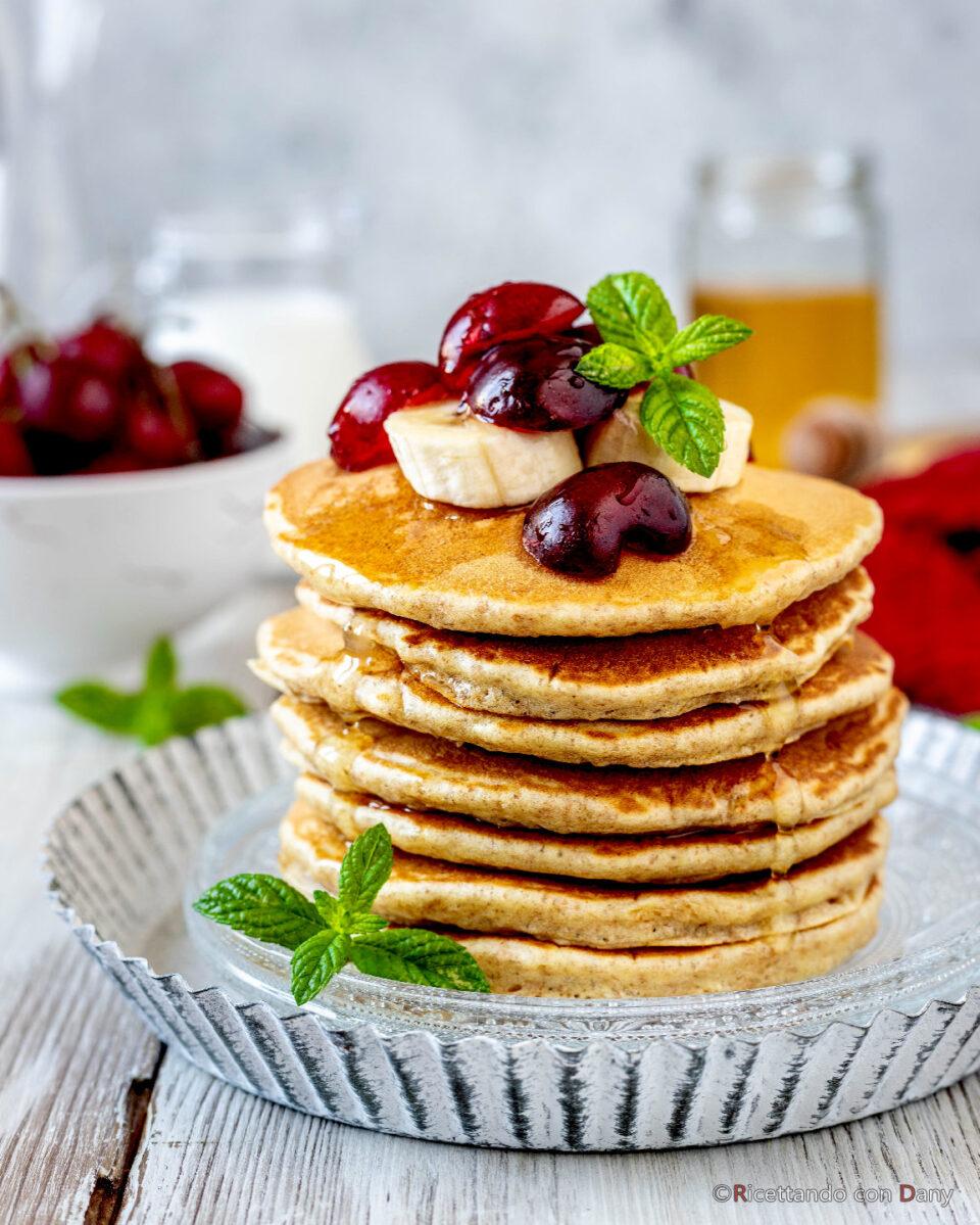 Pancakes integrali al miele