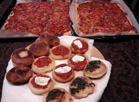 Pizza e pizzelle fritte