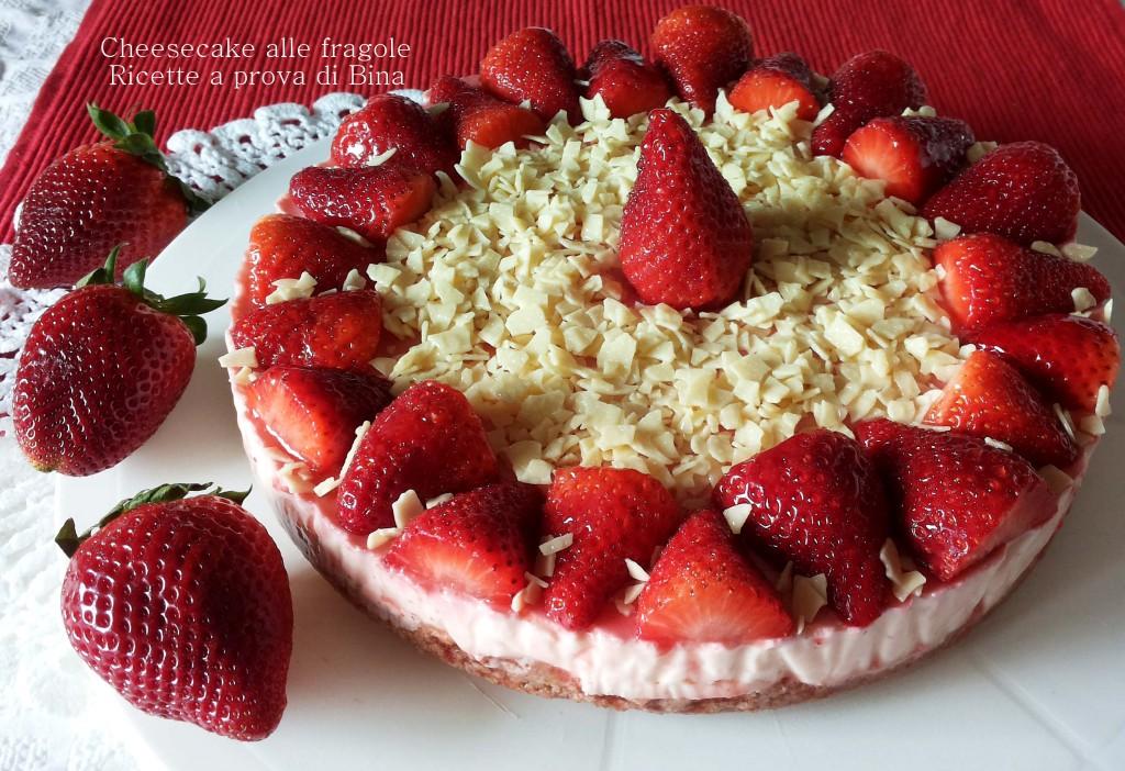Cheesecake alle fragole - ricetta senza cottura