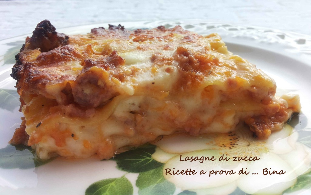 lasagne di zucca - ricetta gustosa