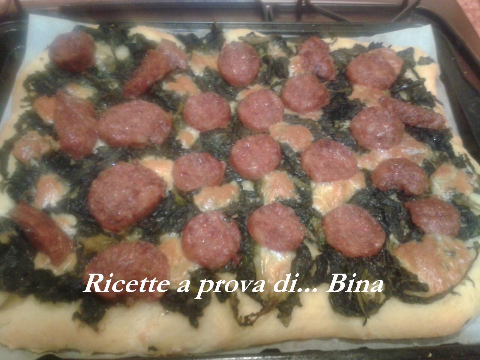 Pizza con friarielli e salsiccia