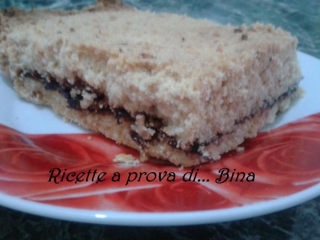 Torta sbrisolona morbida con marmellata