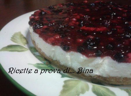 Cheesecake ai frutti di bosco – ricetta senza cottura