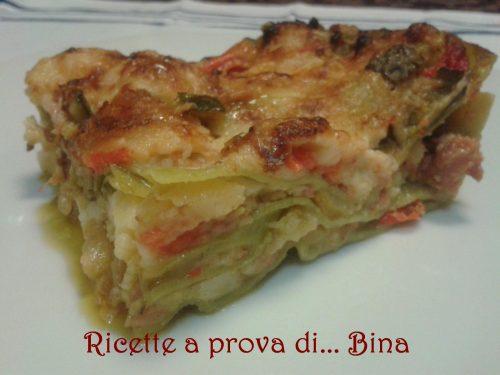 Lasagne verdi salsiccia e verdure – ricetta svuotafrigo