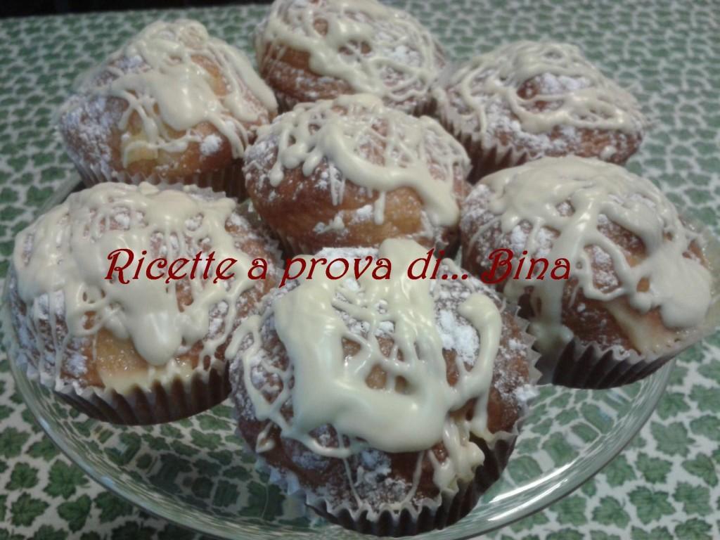 muffin allo yogurt e cioccolato bianco