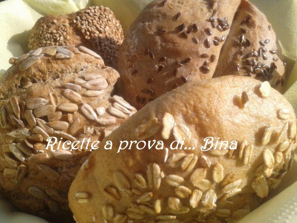 Pane con farina di grano saraceno, integrale, crusca, kamut, farro - corso passo a passo
