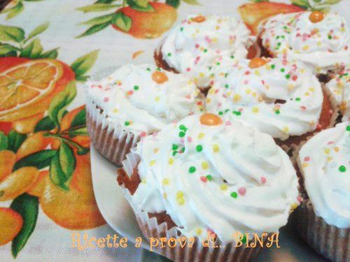Muffin all' arancia e cioccolato