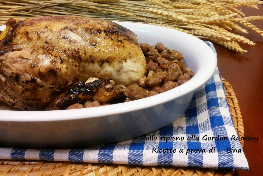 "Pollo ripieno alla Gordon Ramsay italianizzato. Stuffed Roast Chicken from Gordon Ramsay's ""Ultimate Cookery Course"""