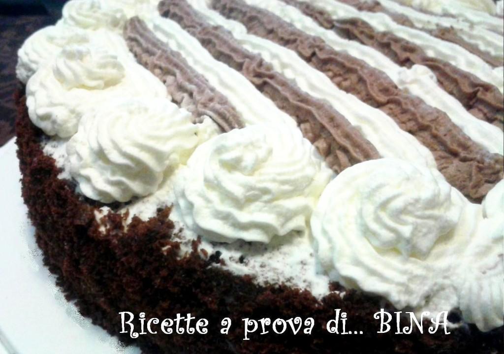 Torta panna e cioccolato - ricetta dolce