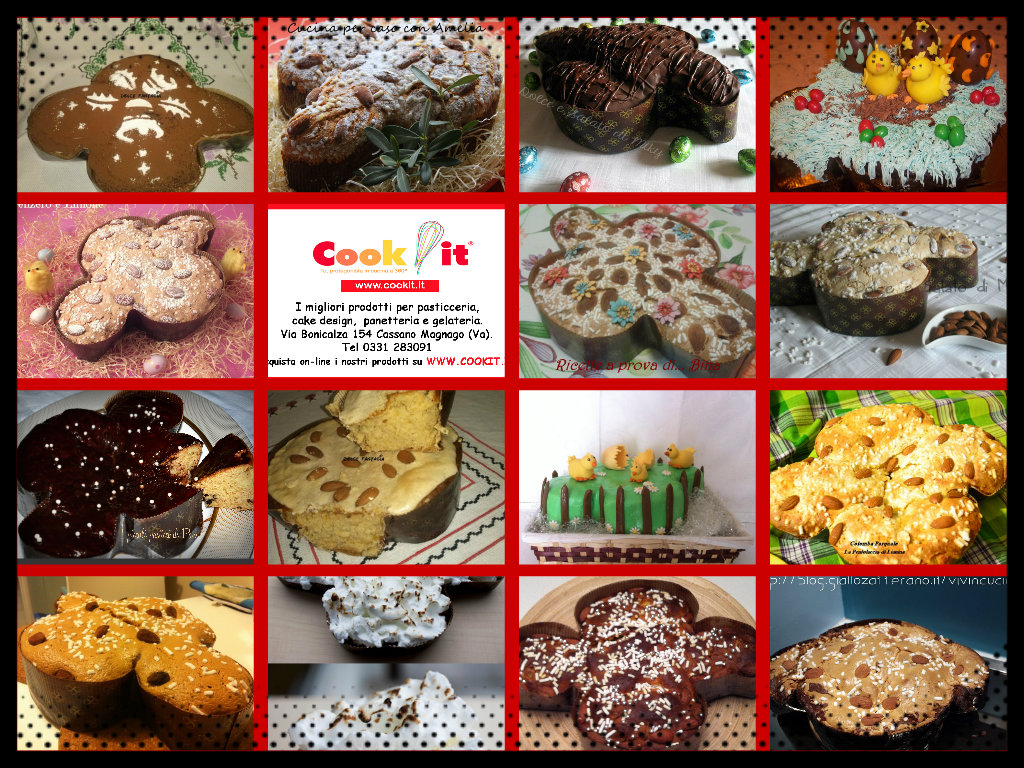 Le colombe dei blogger Giallozafferano Lombardia in collaborazione con Cook It