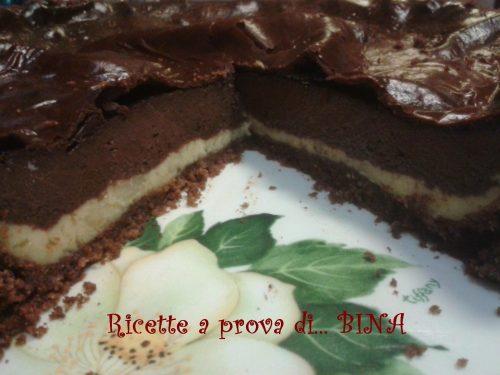 Cheesecake cioccolato e crema – ricetta con cottura