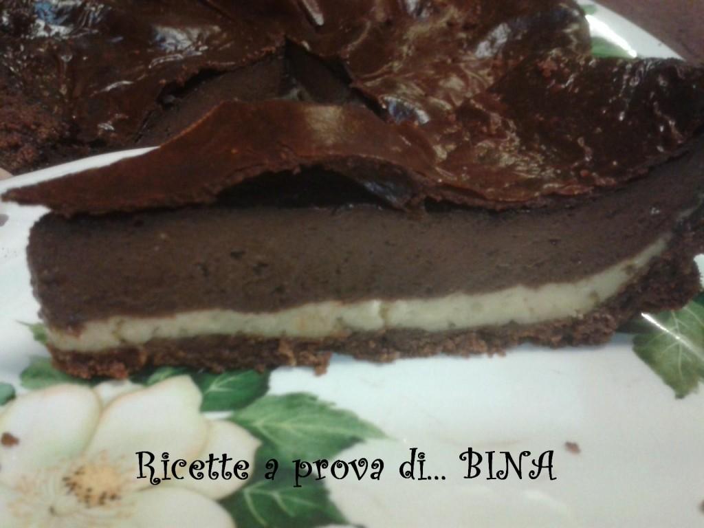 Cheesecake cioccolato e crema - ricetta con cottura