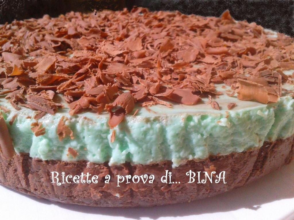 Cheesecake cioccolato e menta - ricetta senza cottura