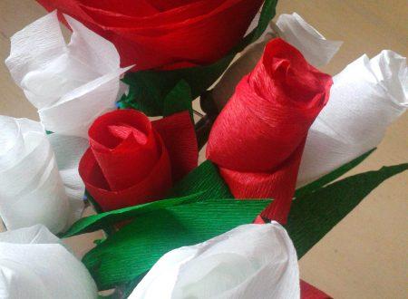 Rose di carta crespa – lavoretto per la festa della mamma