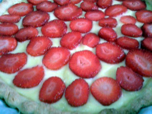 Crostata con crema e fragole – ricetta di Alessia Bossi