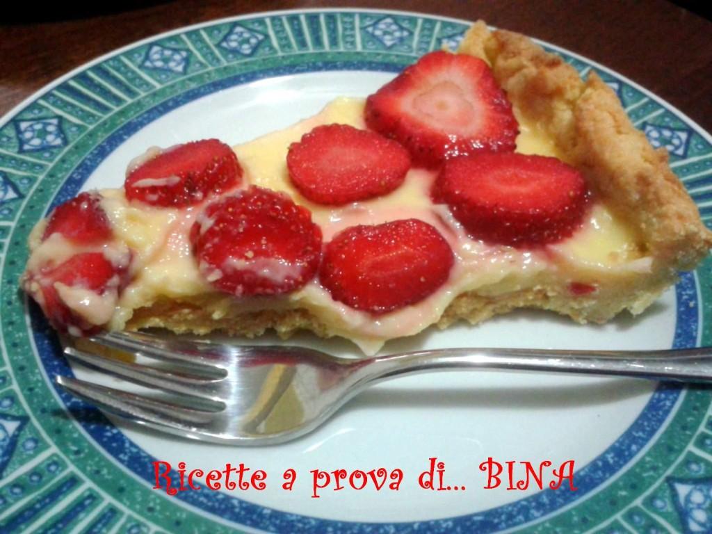 Crostata con crema e fragole di Alessia Bossi