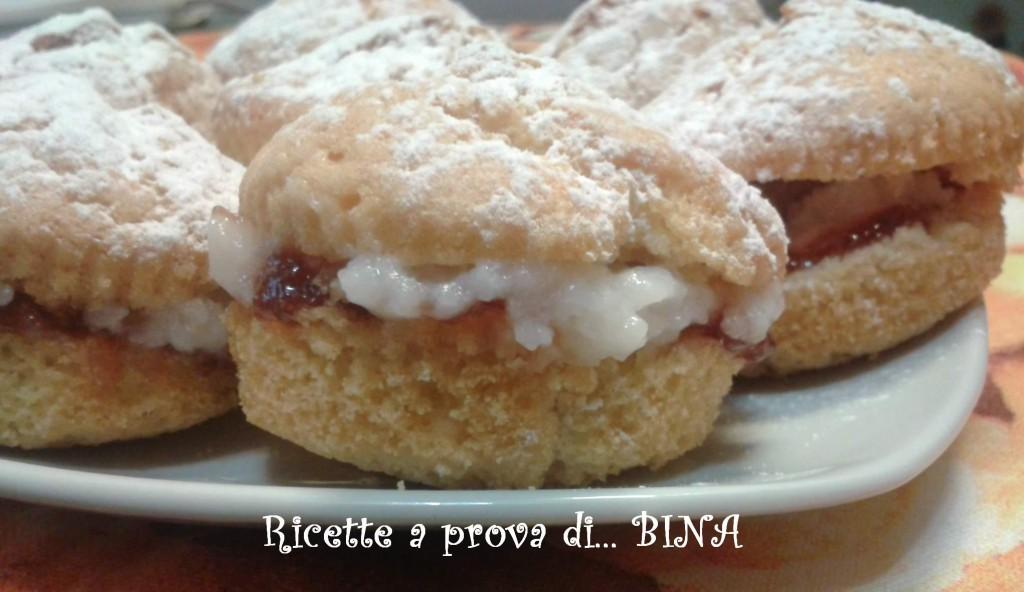 Muffin al latte di mandorla con crema al latte di mandorla e marmellata di fragole - ricetta per intolleranti al lattosio