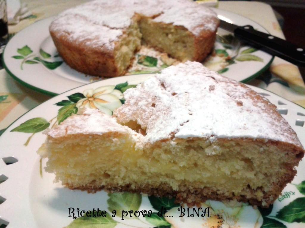 Torta con crema di limone - ricetta per intolleranti al lattosio