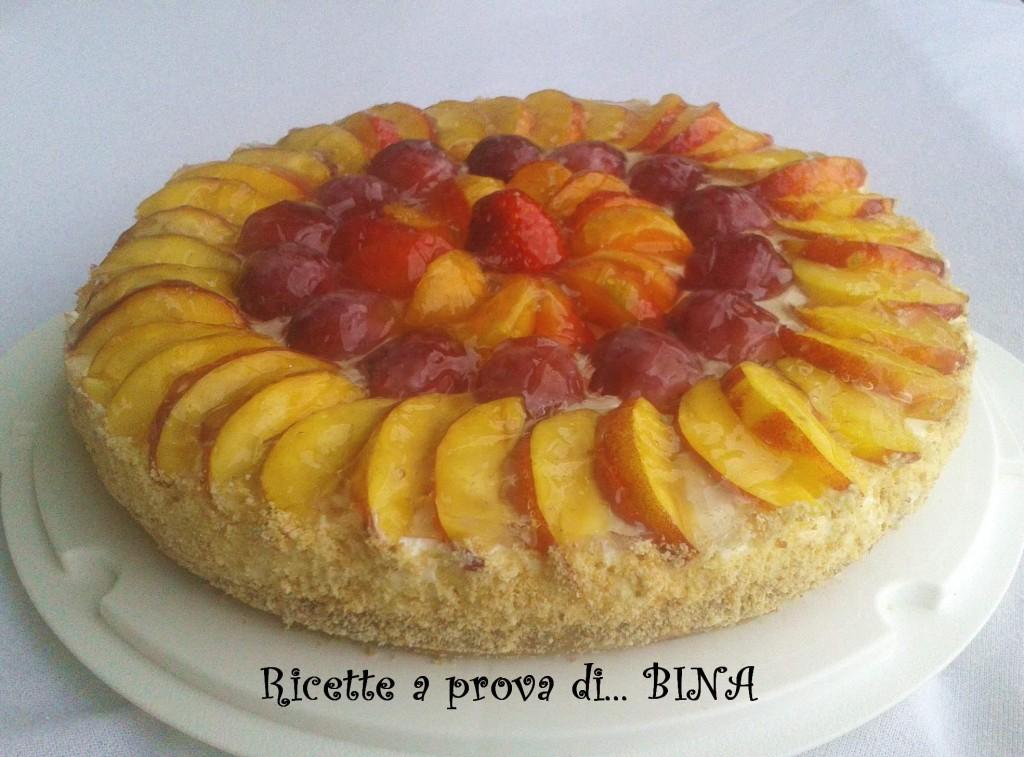 Cheesecake yogurt e frutta - ricetta senza cottura