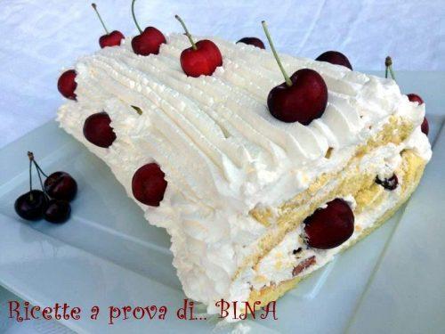 Rotolo con panna e ciliegie – ricetta dolce