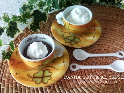 Panna cotta al caffe' solubile – ricetta dolce veloce e fresca