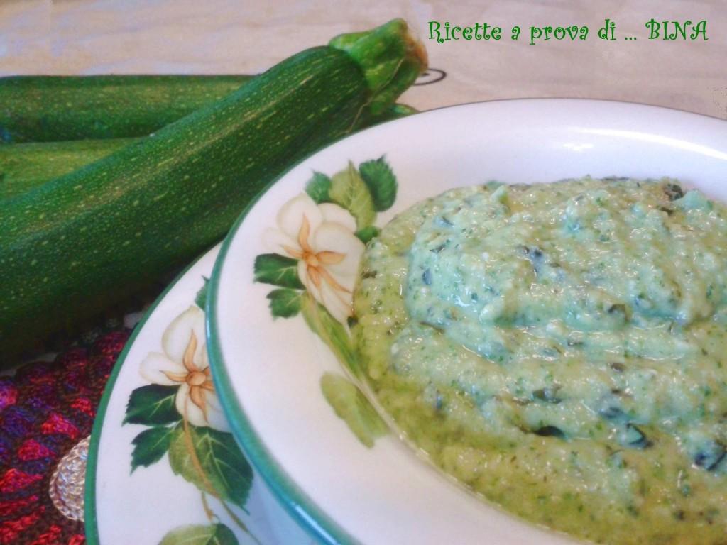 Pesto di zucchine - ricette a prova di Bina