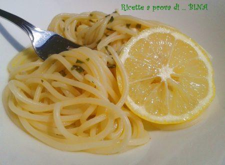 Spaghetti al limone – ricetta primo piatto estivo