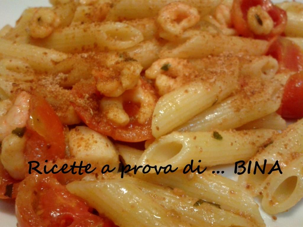 Pasta con gamberetti e bottarga - ricette a prova di Bina