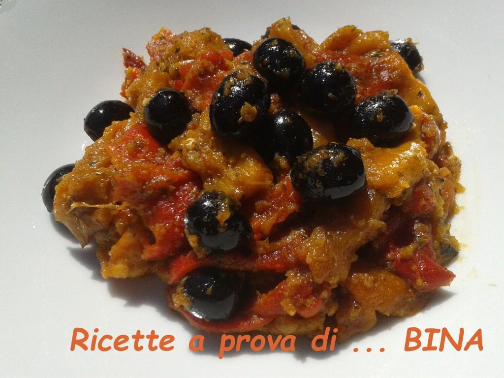 Peperoni ammollicati - ricetta contorno saporito - Ricette a prova di Bina