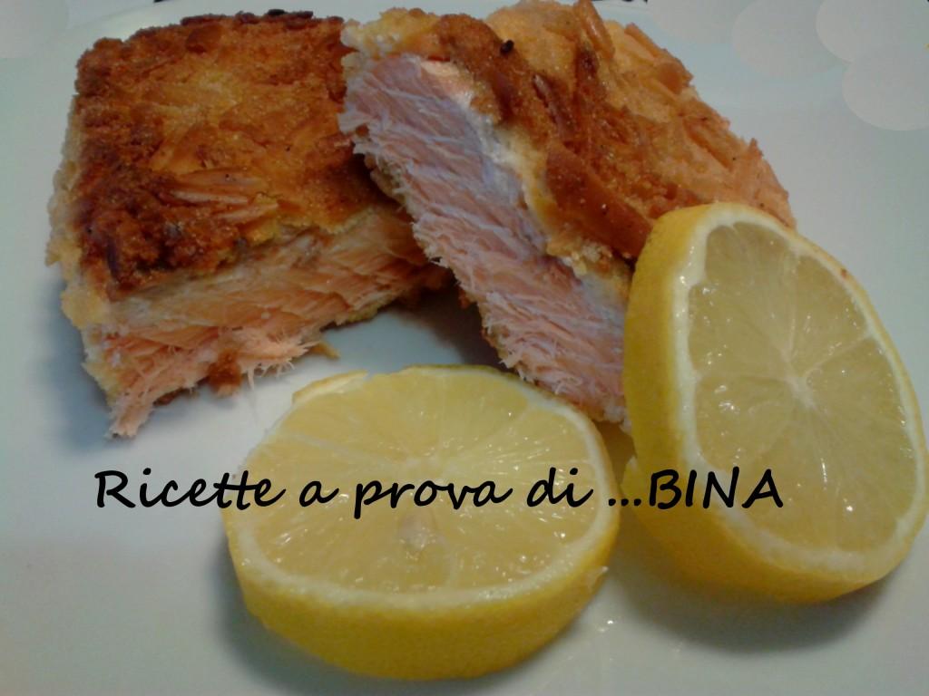 Salmone in crosta - ricette a prova di Bina