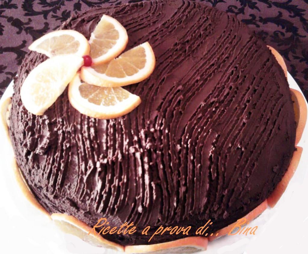 Torta Arancia e Cioccolato Fondente - ricette a prova di Bina