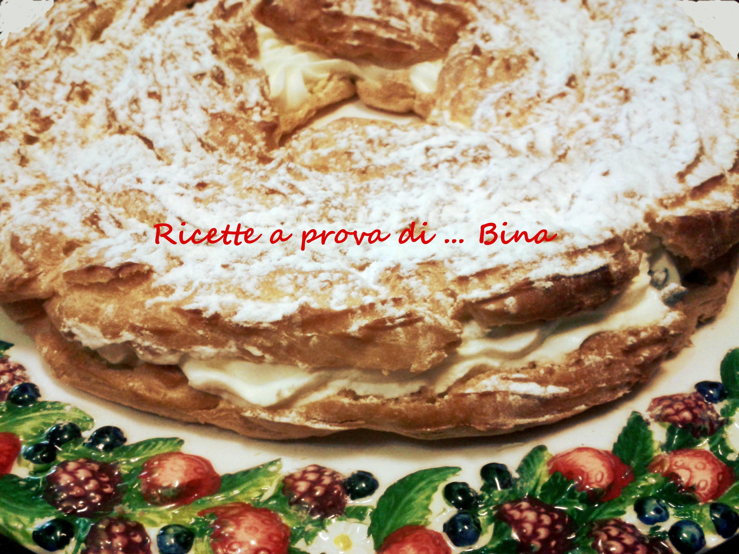 Ciambellone di pasta choux – ricetta torta bignè