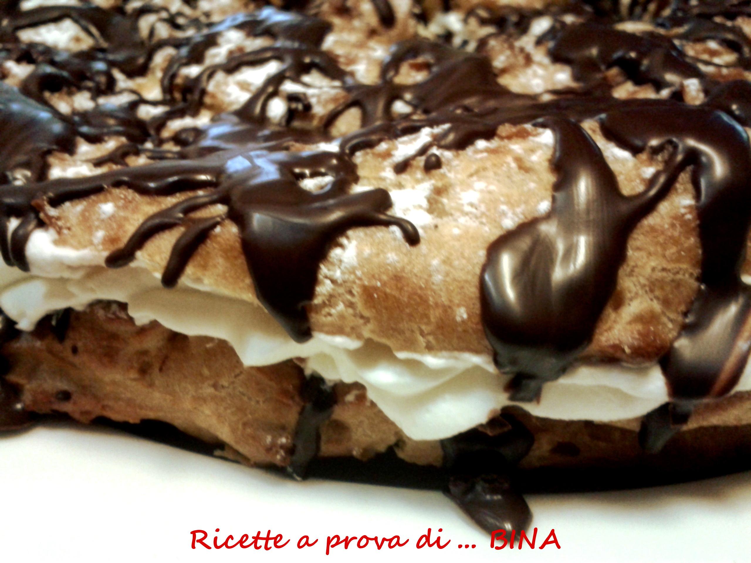 Ciambellone con nutella e panna montata - ricette a prova di Bina