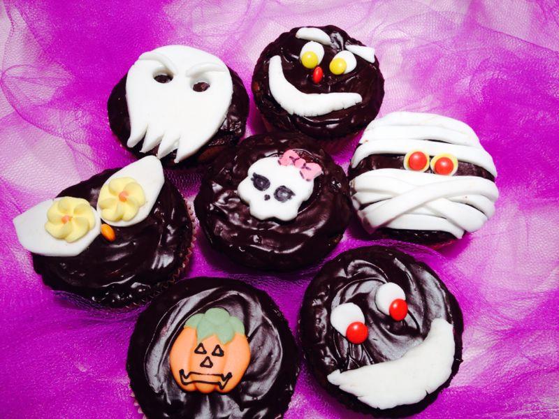 cupcakes al cioccolato di halloween