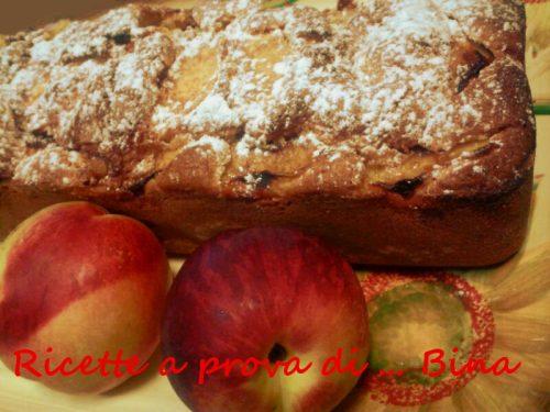 Plumcake alle pesche e cannella – ricetta torta semplice