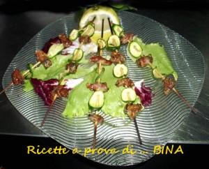 spiedini di cozze pancetta e zucchine - ricetta finger food