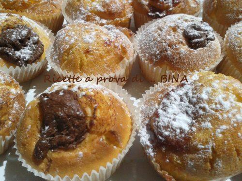 Muffin alla ricotta e nutella