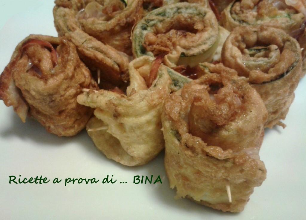 zucchine arrotolate ripiene - ricetta semplice