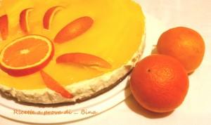 Cheesecake all' arancia - ricetta senza cottura