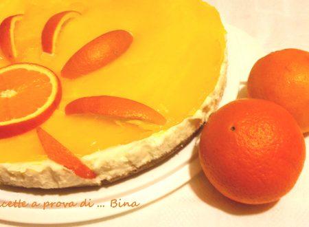 Cheesecake all' arancia – ricetta senza cottura